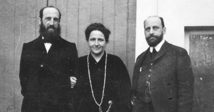 Leo, Gertrude and Michael Stein