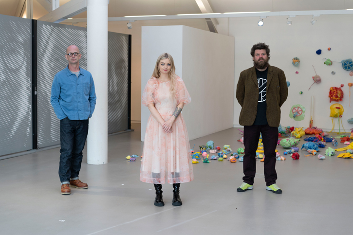 The artists are Stephen Wilson, Ellie Niblock and Paddy Bloomer