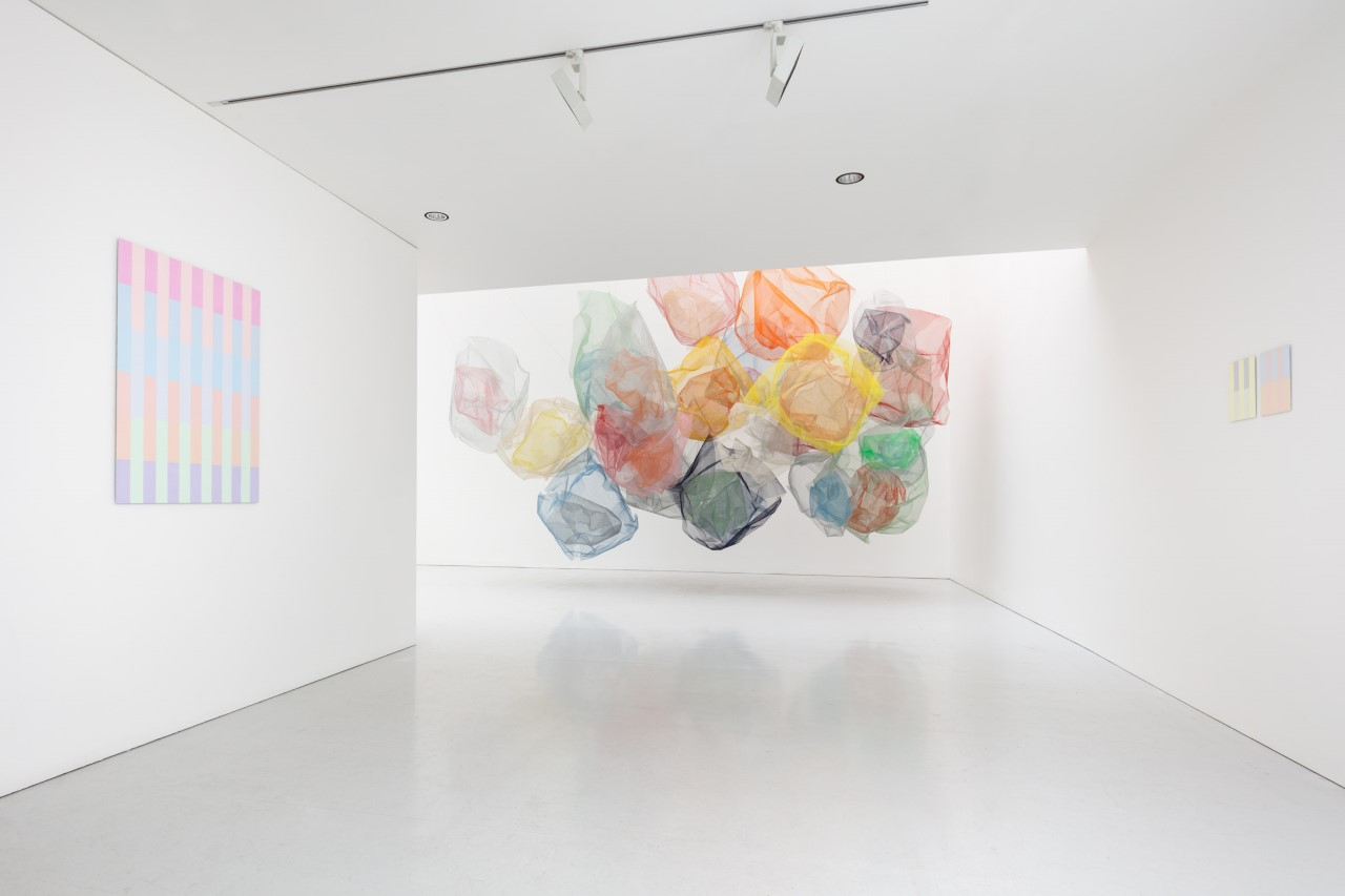 Installation view at Kate MacGarry, London