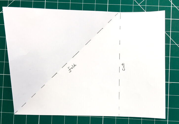 How to fold and cut the second A4 sheet