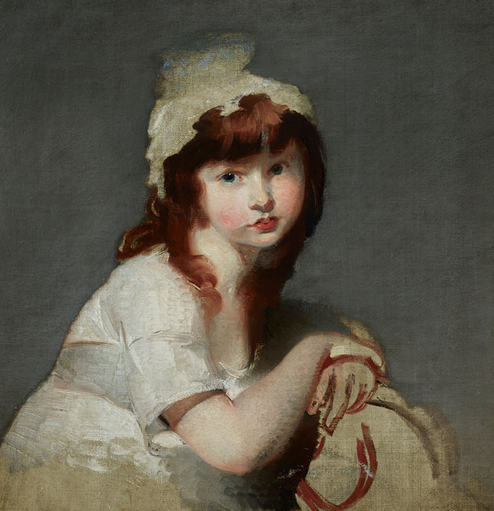 Unfinished Portrait of a Young Girl