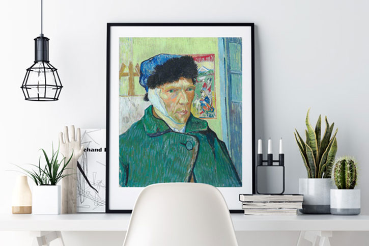 Van Gogh's 'Self-Portrait with Bandaged Ear' is available as a print