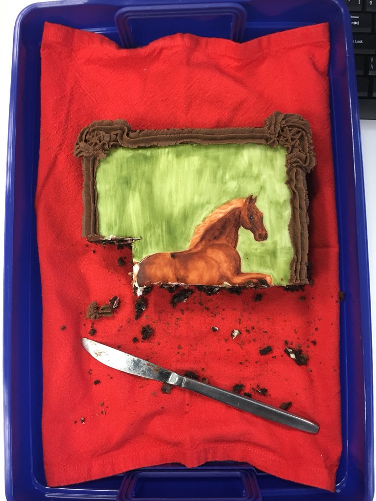 Whistlejacket (after George Stubbs, and after being partly eaten)