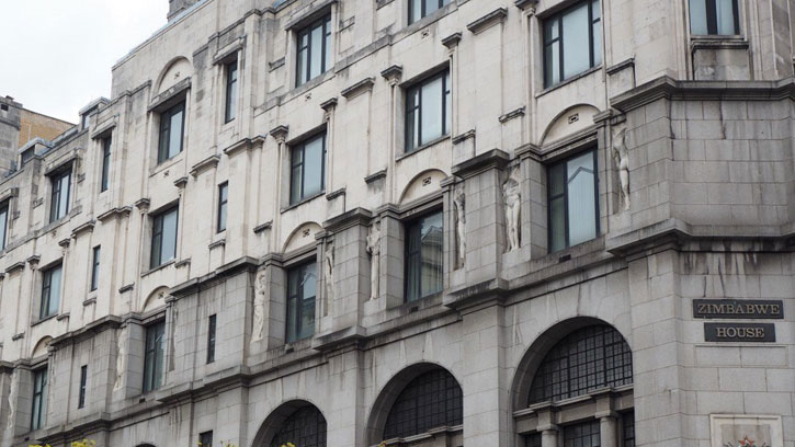 Zimbabwe House, formally the home of the British Medical Association, The Strand, London