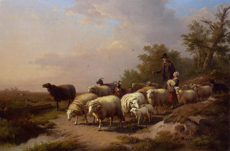 Tending The Flock By Anton Mauve 4825 87267