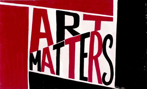 Art Matters, 2016, paint on plywood by Bob and Roberta Smith