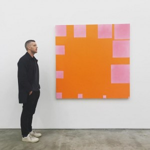 Russell Tovey with a Paul Mogensen piece at Karma