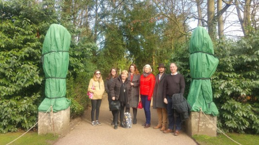 Members of the Coordinator team at a get-together at Anglesey Abbey, Cambridgeshire
