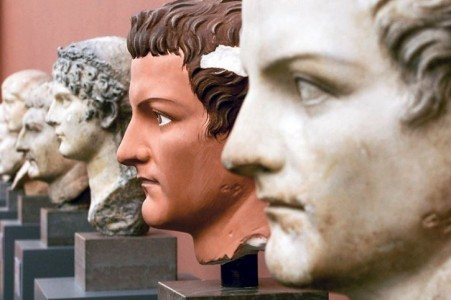 A painted copy of Caligula
