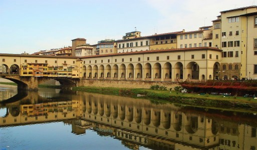 Part of the Vasari Corridor at the Uffizi Gallery, Florence