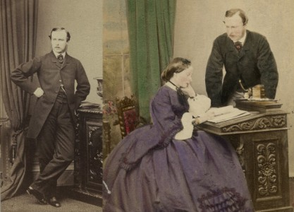 'Louis, Grand Duke of Hesse' (left) and 'Princess Alice with Louis, Grand Duke of Hesse' (right)