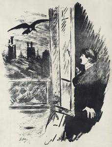 Illustration for a French translation of Edgar Allan Poe's 'The Raven'