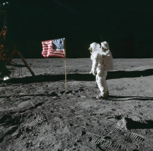 Astronaut Edwin E. Aldrin Jr, lunar module pilot of the first lunar landing mission
