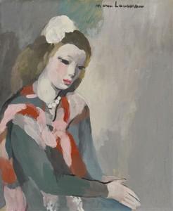 Jeune femme aux perles
