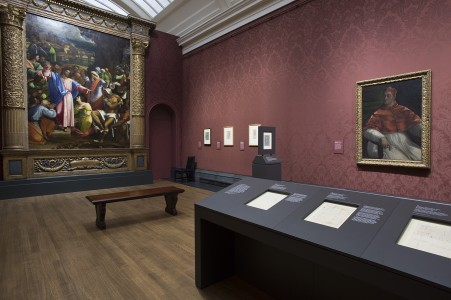 Room three, showing 'The Raising of Lazarus' and 'Pope Clement VII'