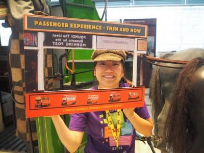 Georgina at a London Transport Museum event