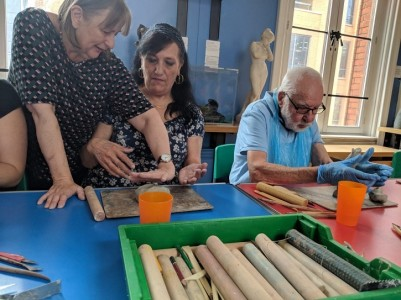 A workshop for visually impaired visitors in Reading