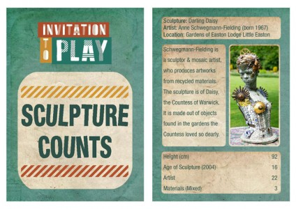 Example of a Sculpture Counts card