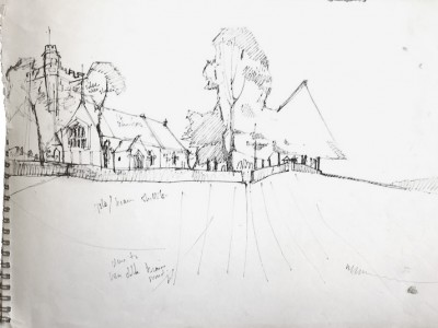 Sketch for 'The Church on the Hill, Milnthorpe'