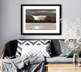 Framed print of 'Across the Water'