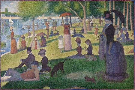 1884/1886, oil on canvas by Georges Seurat (1859–1891), Art Institute of Chicago