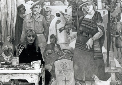 Joyce W. Cairns in her studio