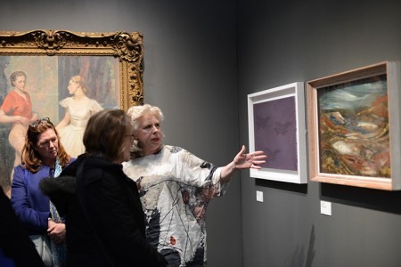 Kathleen at Art UK's exhibition during the London Art Fair in 2018