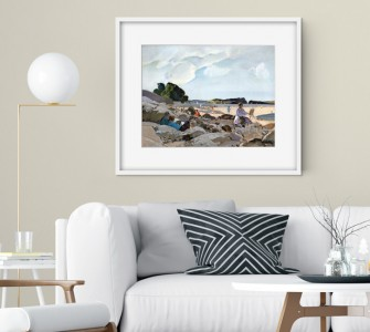 Framed print of 'Seaside'