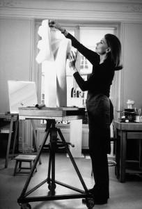 Sophia Vari in her studio