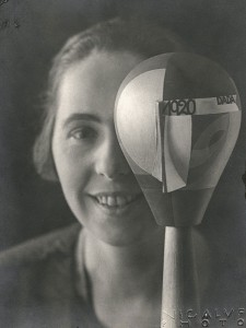 Sophie Taeuber with her Dada head
