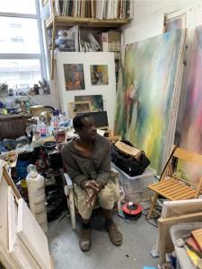 Tony Daley in his studio