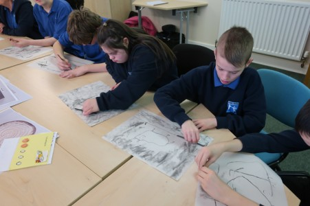 James Rennie students at a Masterpieces in Schools event