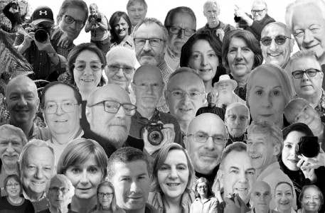 Tracy's collage of Art UK volunteer selfies