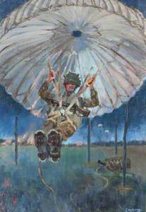 Parachutist Landing, Normandy