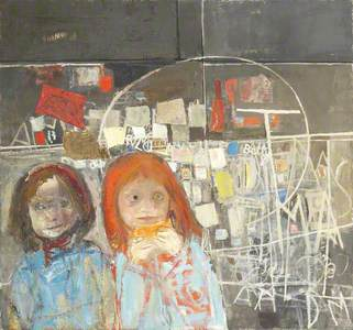 Children and Chalked Wall No.2