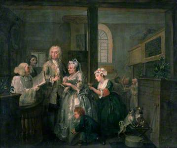 A Rake's Progress: 5. The Rake Marrying an Old Woman