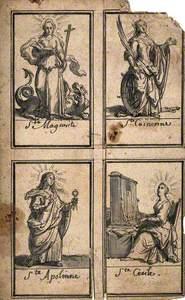 Saint Apollonia, Saint Margaret, Saint Catherine of Alexandria and Saint Cecilia