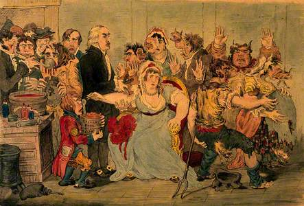 Edward Jenner Vaccinating Patients in the Smallpox and Inoculation Hospital at St Pancras: The Patie