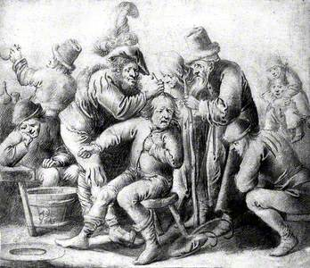 An Itinerant Surgeon Extracting Stones from a Man's Head; Symbolising the Expulsion of 'Folly' (Insa