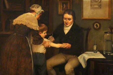 Vaccination: Dr Jenner Performing His First Vaccination, 1796