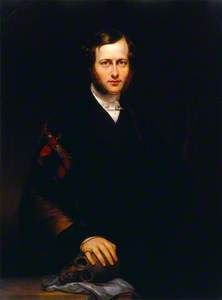 Portrait of a Man (George Dixon Longstaff?) Wearing Academic Robes and Holding a Skull
