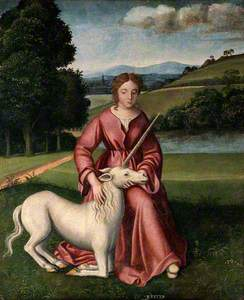 A Virgin and a Unicorn, Representing Chastity