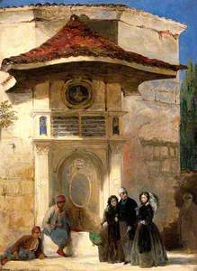 Florence Nightingale with Charles Holte Bracebridge and Selina Bracebridge in a Turkish Street