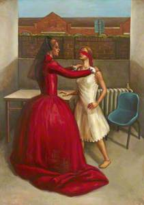 Double Self Portrait of the Artist as Anne Boleyn and a Blindfolded Girl
