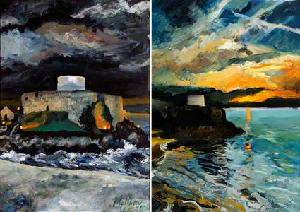 Fort Grey Sunsets : Diptych I