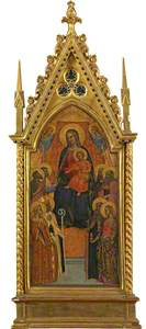 Virgin and Child Enthroned with Eight Saints (Centre Panel)