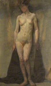 Standing Female Nude (recto)