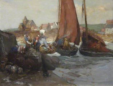 St Monans: A Fishing Village with Women on the Quay