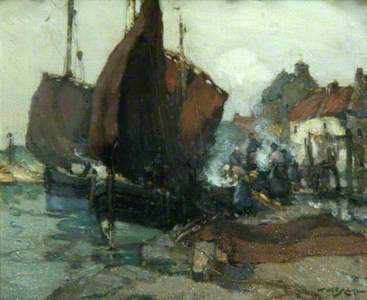 East Coast Harbour Scene