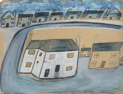White House and Cottages -  the Old House, Porthmeor Square, St Ives